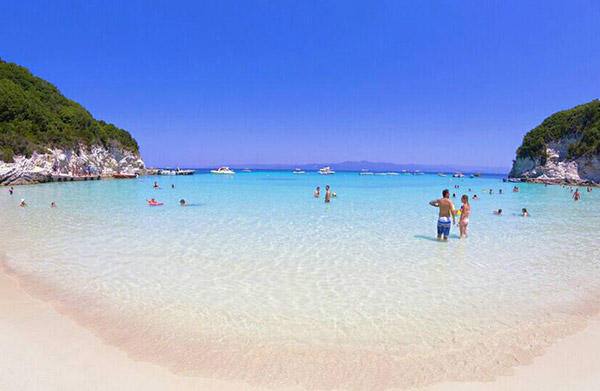 Beach in Antipaxos