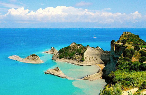 Blue waters of Corfu