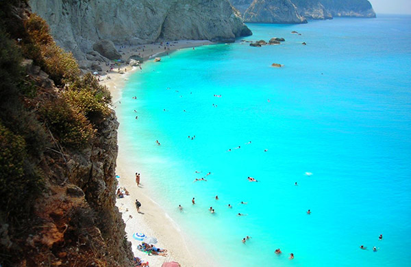 The majestic blue sea of Lefkada